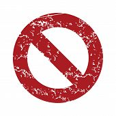 foto of ban  - Red grunge sign ban logo on a white background - JPG