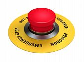 pic of interrupter  - emergency stop button to interrupt industrial production - JPG