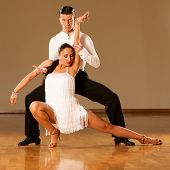 foto of samba  - latino dance couple in action  - JPG