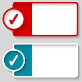 stock photo of check  - Colored boxes for your text and check box - JPG
