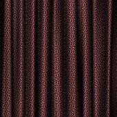 stock photo of lace-curtain  - Curtain red lace generated texture or background - JPG