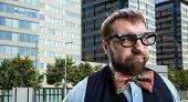 stock photo of nerd  - Strange nerd  - JPG
