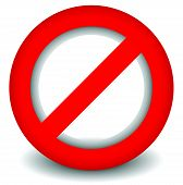 foto of signs  - Red prohibition restriction  - JPG