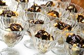 picture of hungarian  - delicious chocolate covered traditional hungarian dessert in glass - JPG