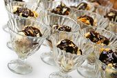 pic of hungarian  - delicious chocolate covered traditional hungarian dessert in glass - JPG