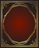 picture of gamma  - Vintage background in red and gold gamma - JPG