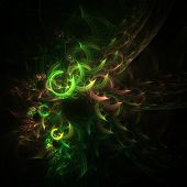 picture of trippy  - Cute abstract fractal wallpaper on black background - JPG