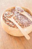 picture of whole-grain  - Organic multi whole grain of jasmine rice - JPG