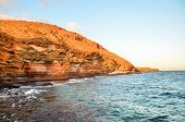 pic of atlantic ocean beach  - Dry Lava Coast Beach in the Atlantic Ocean - JPG