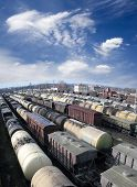 pic of chug  - Railroad cars on a railway station - JPG
