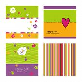 image of tea party  - Set of abstract backgrounds - JPG