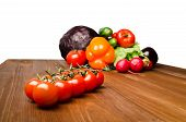 Vegetables On A Table Isolated On A White Background .fresh Vegetables. poster