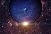 Solar System - Neptune. It Is The Eighth And Farthest Planet From The Sun. poster