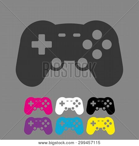 poster of Video Game Controller Icon Vector. Joystick,  Game Play Icon. Joystick Or Controller Sign.