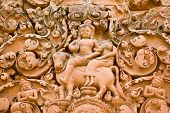 foto of bull-riding  - The Hindu god Shiva with his companion Parvati riding on the sacred bull Nandi - JPG