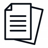 Documents Icon Isolated On White Background. Documents Icon In Trendy Design Style. Documents Vector poster