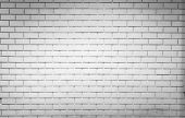 White Brick Wall Texture Background With Space For Text. White Brick Wallpaper. Home Interior Decora poster