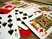 picture of playing card  - scattered playing cards - JPG
