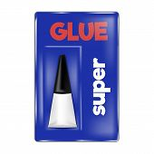 Super Glue Icon. Realistic Illustration Of Super Glue Vector Icon For Web Design Isolated On White B poster