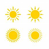 Sun Icon Set. Sun Collection Logo Icon Vector. Sun Star Collection, Sun Icon Logo. Sun Icon Color. S poster