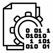 Malicious Code In Action Icon. Outline Malicious Code In Action Vector Icon For Web Design Isolated  poster