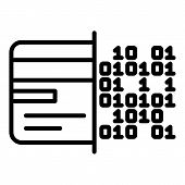 Malicious Code On Hard Drive Icon. Outline Malicious Code On Hard Drive Vector Icon For Web Design I poster
