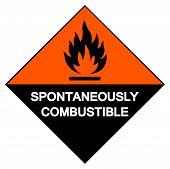 Spontaneously Combustible Symbol Sign, Vector Illustration, Isolate On White Background Label. Eps10 poster
