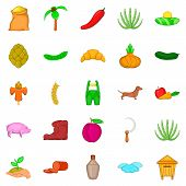 Manual Labor Icons Set. Cartoon Set Of 25 Manual Labor Icons For Web Isolated On White Background poster