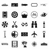 Voyage Icons Set. Simple Set Of 25 Voyage Icons For Web Isolated On White Background poster