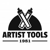 Artist Tool Logo. Simple Illustration Of Artist Tool Logo For Web poster