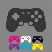Video Game Controller Icon Vector. Joystick,  Game Play Icon. Joystick Or Controller Sign. poster