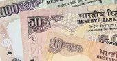 foto of mahatma gandhi  - Fragment of Indian banknotes  - JPG