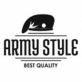 Army Style Logo. Simple Illustration Of Army Style Logo For Web poster