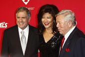LOS ANGELES, CA - FEB 10: Les Moonves; Julie Chen; Robert Kraft at the 2012 MusiCares Person of the
