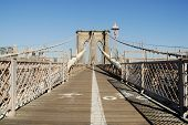 foto of brooklyn bridge  - Bike and Pedestrian Lanes on the Brooklyn Bridge New York - JPG