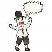 image of hobo  - cartoon screaming hobo man - JPG