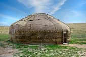 Traditional Asian yurt made of hide and using since 9th century BC