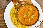 picture of curry chicken  - Chicken Korma a popular indian curry dish and favourite with people not keen on spicy food - JPG