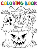 Coloring book Halloween character 5 - eps10 vector illustration.