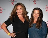 LOS ANGELES - AUG 24:  Catherine Bach, Melissa Claire Egan at the Young & Restless Fan Club Dinner a