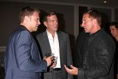 LOS ANGELES - AUG 24:  Billy Miller, Peter Bergman, Steve Burton at the Young & Restless Fan Club Di