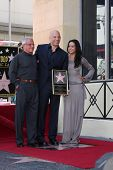 LOS ANGELES - AUG 26:  Ron Meyer, Vin Diesel, Michelle Rodriguez at the Vin DIesel Walk of Fame Star