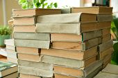 stock photo of annal  - Old books are identical to each other ha - JPG