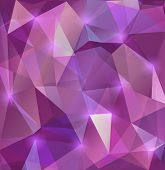 stock photo of cell block  - Illustration of triangle mosaic background in lilac colors - JPG