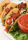 pic of mexican food  - delicious Mexican tacos - JPG