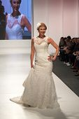 ZAGREB, CROATIA - FEBRUARY 15, 2014: Middle aged woman in wedding dress on 'Wedding days' show