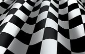 stock photo of sidecar  - Checkered flag close up  - JPG