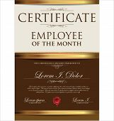 image of employee month  - Certificate Template - JPG