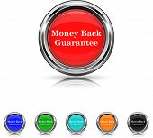 Money Back Guarantee Icon - Six Colors Vector Set