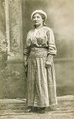 POLAND, CIRCA 1910 - Vintage photo of woman